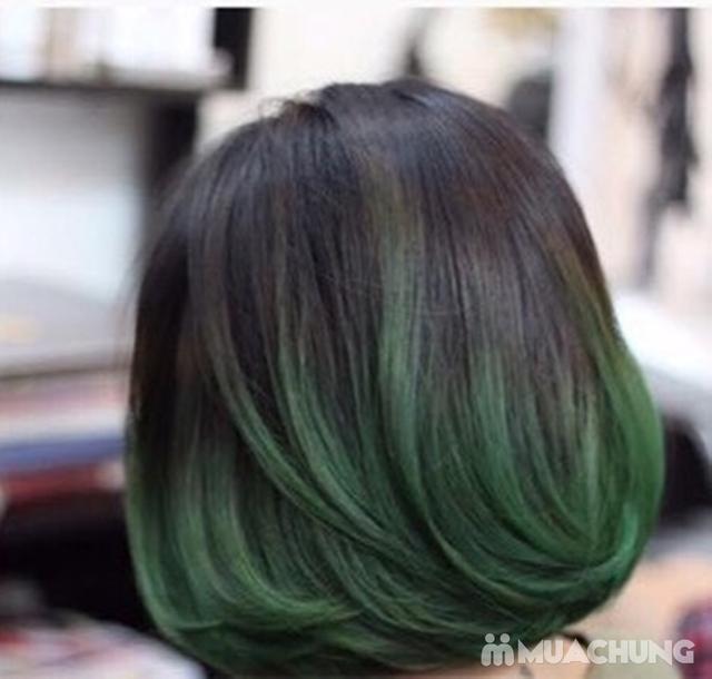 Combo Cắt tạo kiểu + gội + Nhuộm màu thời trang/nhuộm phủ bạc/nhuộm màu 3D Viện tóc Thành Đạt - 11