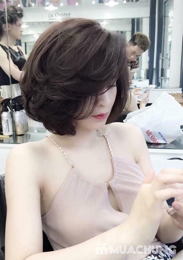 Combo Cắt tạo kiểu + gội + Nhuộm màu thời trang/nhuộm phủ bạc/nhuộm màu 3D Viện tóc Thành Đạt - 17