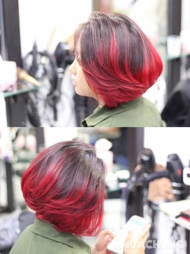 Combo Cắt tạo kiểu + gội + Nhuộm màu thời trang/nhuộm phủ bạc/nhuộm màu 3D Viện tóc Thành Đạt - 24
