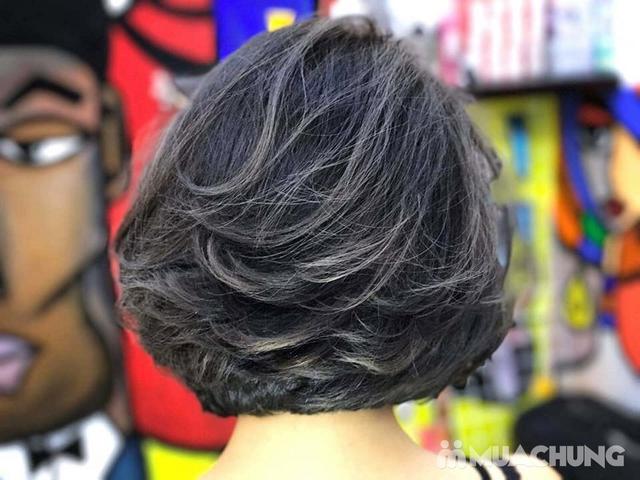 Combo Cắt tạo kiểu + gội + Nhuộm màu thời trang/nhuộm phủ bạc/nhuộm màu 3D Viện tóc Thành Đạt - 15