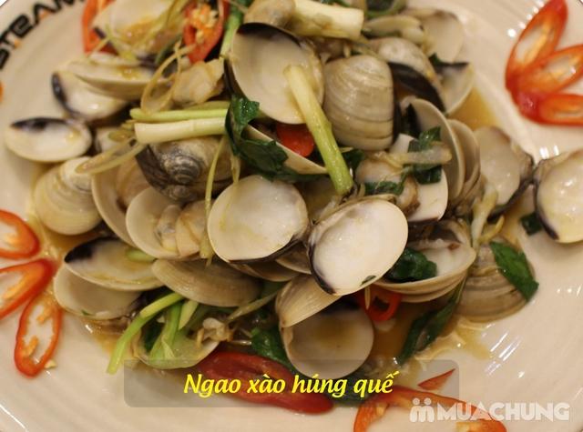 Thưởng thức các món từ Đất Liền - Biển Cả ngon đặc sắc cho 6 người tại Nhà hàng iSteam - 12