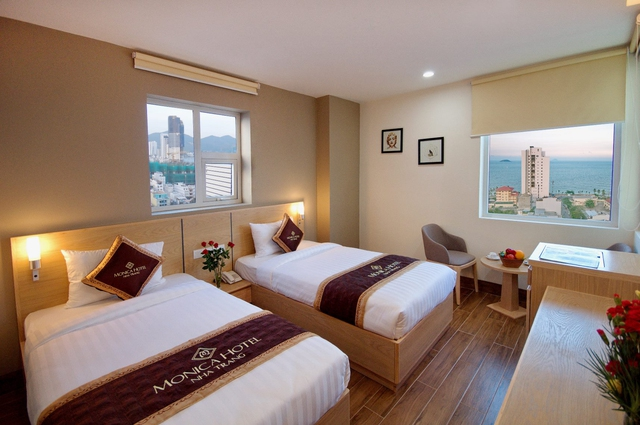 Monica Hotel Nha Trang 4 * - 3 phút tản bộ đến biển + phòng Deluxe seaview - 21