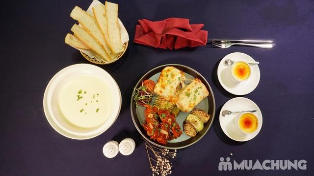 Combo chuẩn Âu: Sườn heo nướng sốt BBQ + Lasagne mỳ ống bò băm + Lẩu cheese Thụy Sĩ - View Hồ Gươm - 6