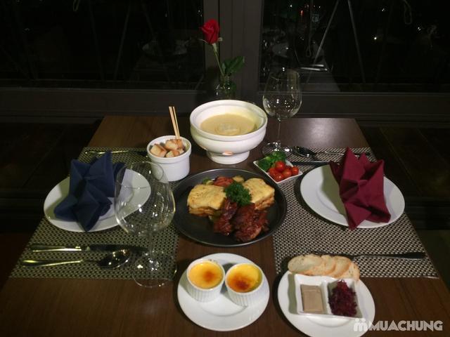 Combo chuẩn Âu: Sườn heo nướng sốt BBQ + Lasagne mỳ ống bò băm + Lẩu cheese Thụy Sĩ - View Hồ Gươm - 7