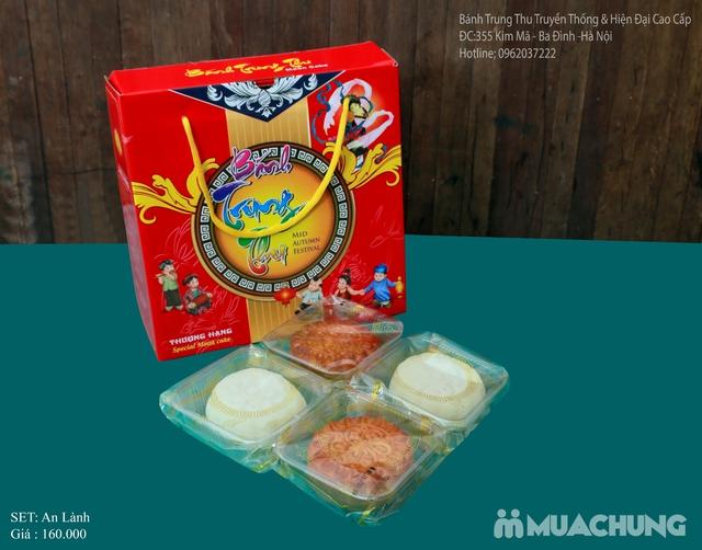 Bánh Trung Thu Cao cấp Bình Chung - Set 4 bánh Trung thu truyền thống An Lành - 4