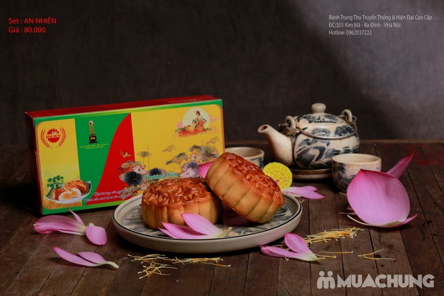 Bánh Trung Thu Cao cấp Bình Chung - 2 hộp bánh truyền thống AN NHIÊN - 4