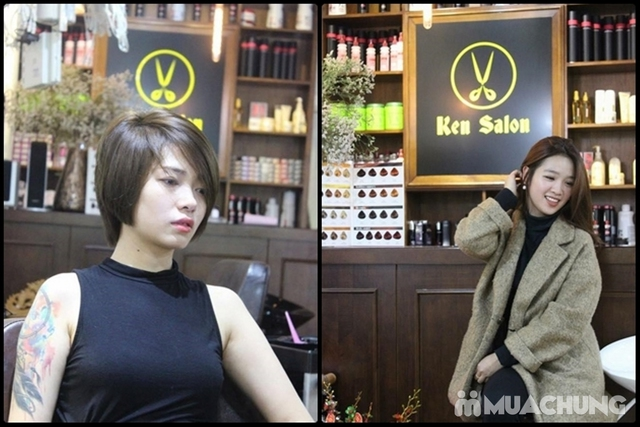 Combo Cắt + Gội + Sấy tạo kiểu cho Nữ tại Ken Salon - 10