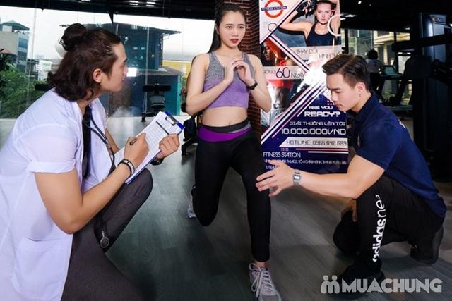 Thẻ tập Full dịch vụ Gym, Yoga, Group X, Xông hơi, Xông khô tại Fitness Station 5* - 24