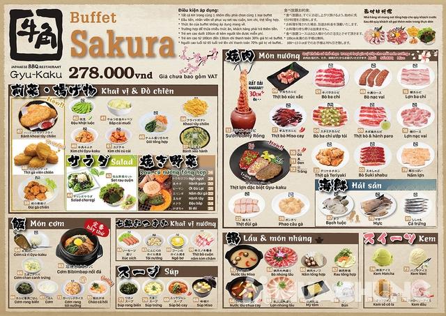 Buffet Nướng Và Lẩu Gyu Kaku - Chuỗi Nhà Hàng Buffet Nổi Tiếng Đến Từ Nhật Bản - Menu 278k - 1