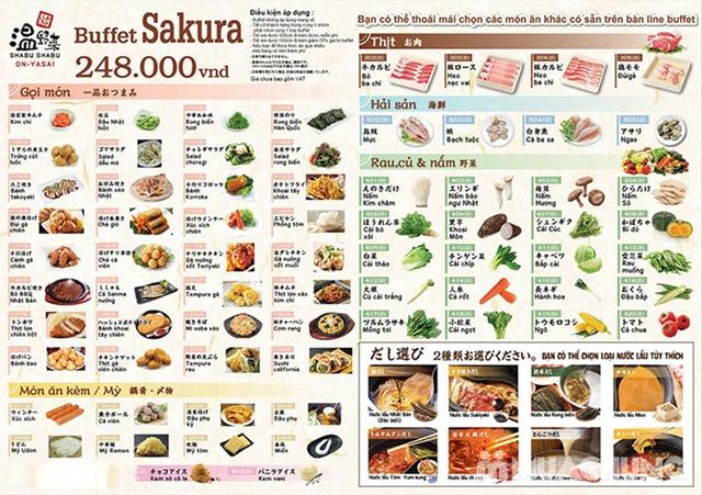 Buffet Lẩu Đúng Chuẩn Nhật Bản Tại Nhà Hàng On - Yasai Shabu Shabu Việt Nam Complex 302 Cầu Giấy - menu 248 - 57