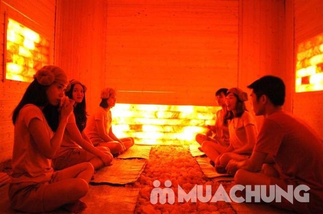 150 phút xông hơi đá muối himalaya kết hợp massage độc quyền tại Sunflower healthy Spa - 8