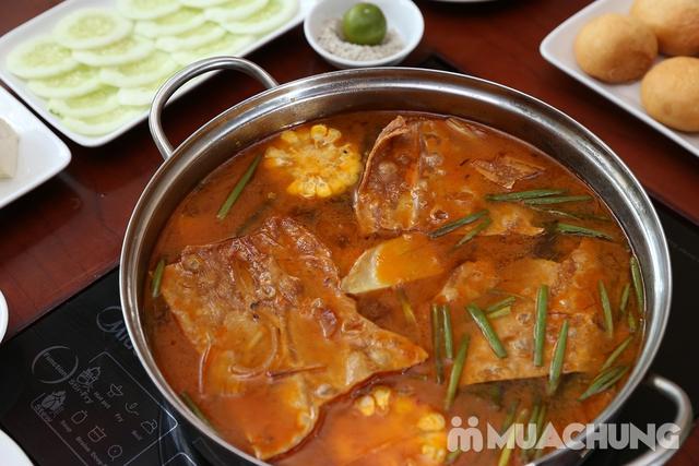 Lẩu Ếch om măng cay/om chuối đậu tại Lẩu Hội Quán -  tặng đĩa khoai chiên - 11