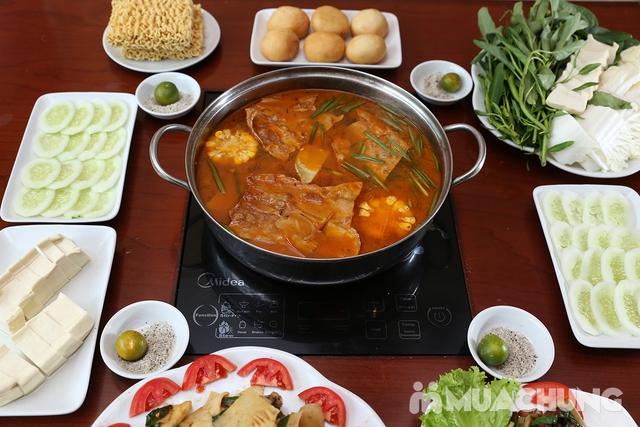 Lẩu Ếch om măng cay/om chuối đậu tại Lẩu Hội Quán -  tặng đĩa khoai chiên - 24