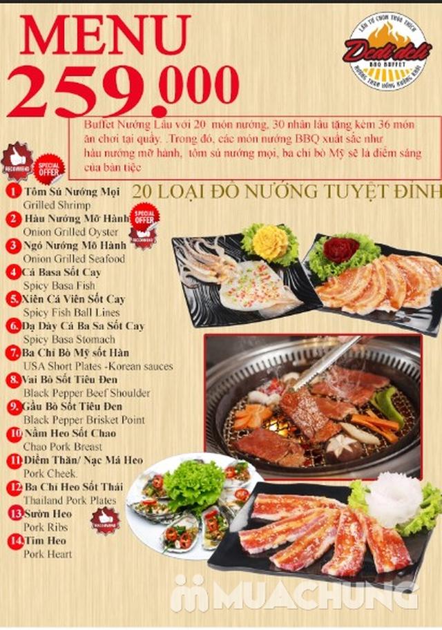 Deli Deli - Buffet Nướng Lẩu – Tặng kèm 36 món ăn chơi - Áp Dụng Tại Royal City  - 42