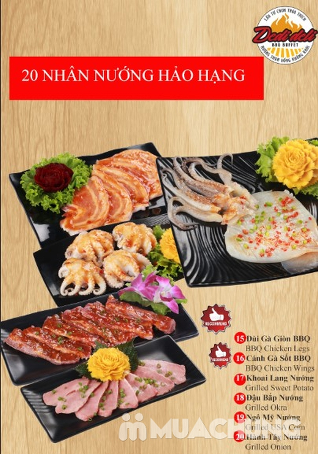 Deli Deli - Buffet Nướng Lẩu – Tặng kèm 36 món ăn chơi - Áp Dụng Tại Royal City  - 43