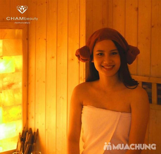 Xông hơi kết hợp Massage body đá muối Himalaya tặng kèm nước chanh muối - Cham Beauty Spa - 22