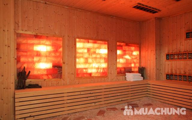 Xông hơi kết hợp Massage body đá muối Himalaya tặng kèm nước chanh muối - Cham Beauty Spa - 24