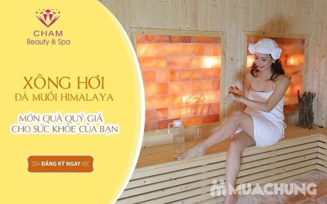 Xông hơi kết hợp Massage body đá muối Himalaya tặng kèm nước chanh muối - Cham Beauty Spa - 17