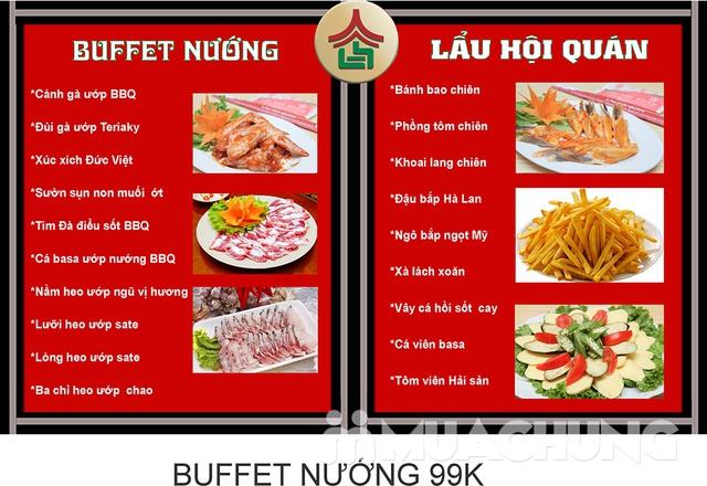 (Chỉ 99K) Butffet Nướng than hoa tại Nhà hàng Lẩu Hội Quán Hoàng Cầu - Menu 169K - 1