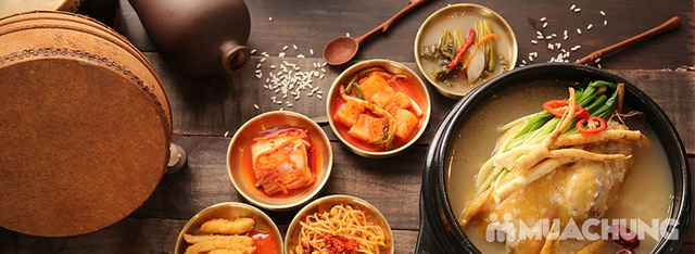 """Set """"Gà tần sâm + Bánh hành hải sản/Cơm trộn Hàn Quốc + panchan không giới hạn"""" cho 2 người-NH Chum - 3"""