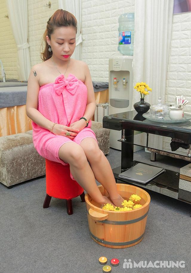 Massage Body đá nóng + Chăm sóc da mặt + Ngâm chân thuốc bắc + Trị liệu cổ vai gáy  tại Camellia Spa - 13