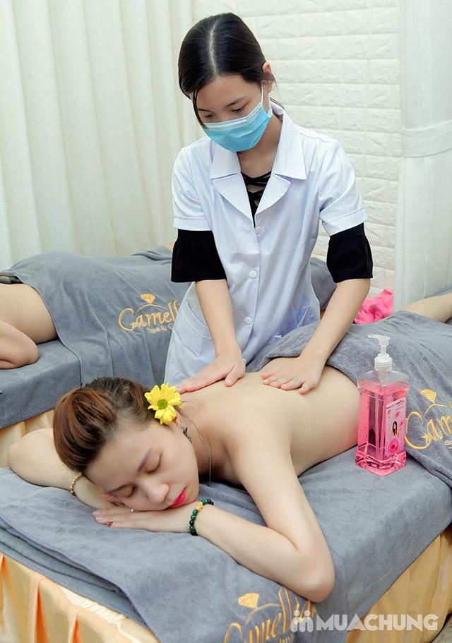 Massage Body đá nóng + Chăm sóc da mặt + Ngâm chân thuốc bắc + Trị liệu cổ vai gáy  tại Camellia Spa - 14