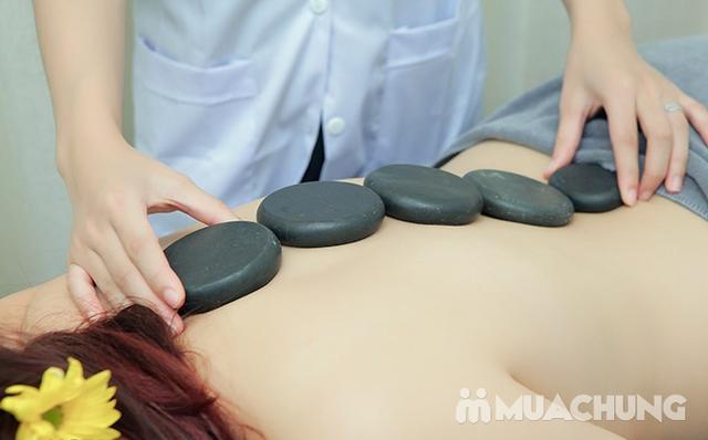 Massage Body đá nóng + Chăm sóc da mặt + Ngâm chân thuốc bắc + Trị liệu cổ vai gáy  tại Camellia Spa - 17