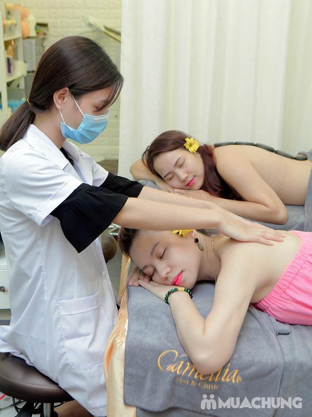 Massage Body đá nóng + Chăm sóc da mặt + Ngâm chân thuốc bắc + Trị liệu cổ vai gáy  tại Camellia Spa - 15