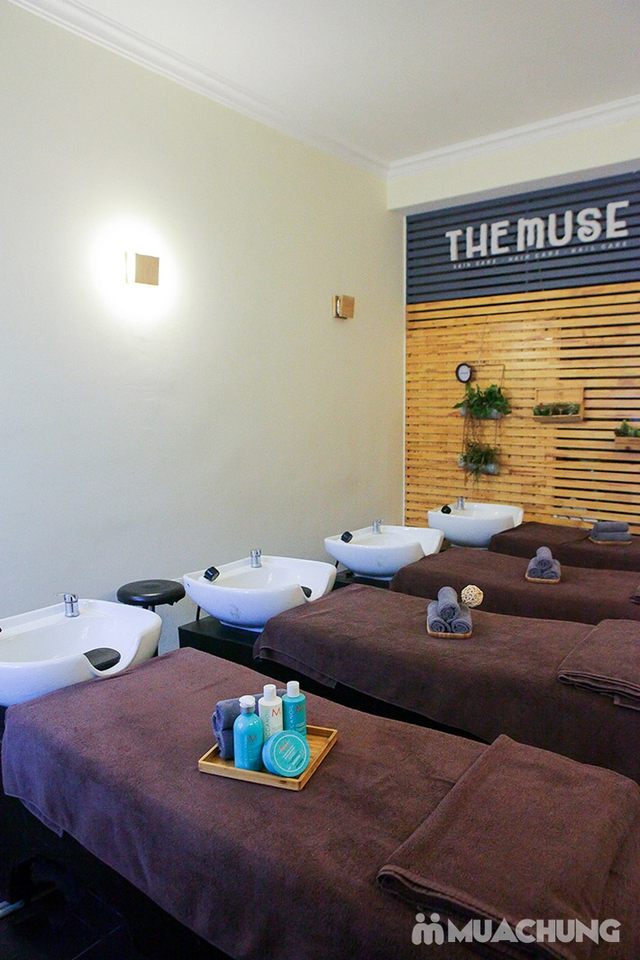 Combo cao cấp xông hơi + ngâm chân thuốc bắc + Massage đá nóng Italy tại The Muse - 11