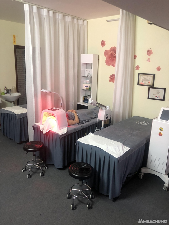 Liệu trình ủ trắng da mặt bằng huyết yến collagen tại Rosa Laevigata Spa - 9