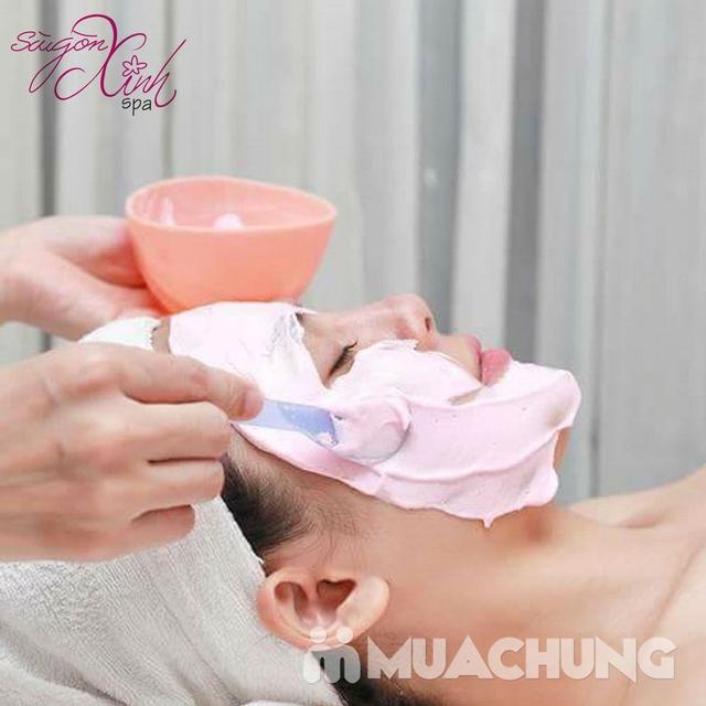 Siêu âm đẩy tinh chất +đắp mặt na Collagen chống nhăn, chống lão hóa tại Sài Gòn Xinh Spa - 7
