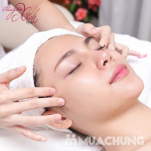 Siêu âm đẩy tinh chất +đắp mặt na Collagen chống nhăn, chống lão hóa tại Sài Gòn Xinh Spa - 4