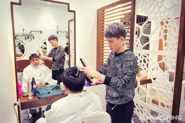 Tạo kiểu chuyên nghiệp + Nhuộm tóc cao cấp tại Fasiya Salon 74 Trung Hoà - 7