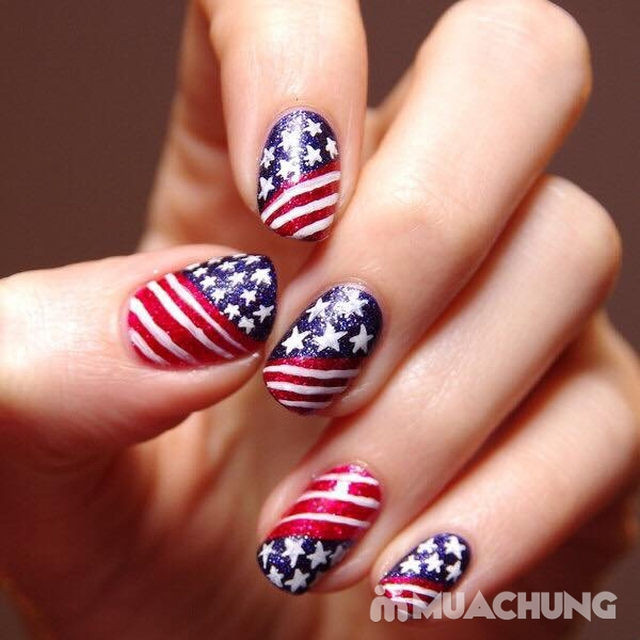 Trọn bộ sơn gel Mỹ cho tay hoặc chân tặng thêm 2 ngón trang trí cơ bản tại Huyền's American Nails  - 7