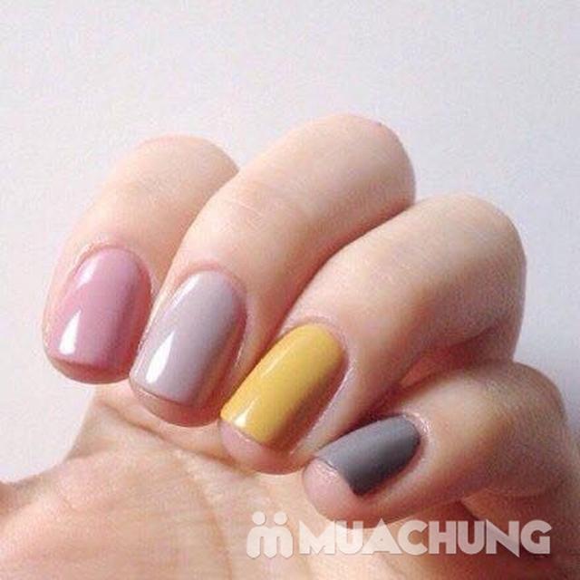 Trọn bộ sơn gel Mỹ cho tay hoặc chân tặng thêm 2 ngón trang trí cơ bản tại Huyền's American Nails  - 8
