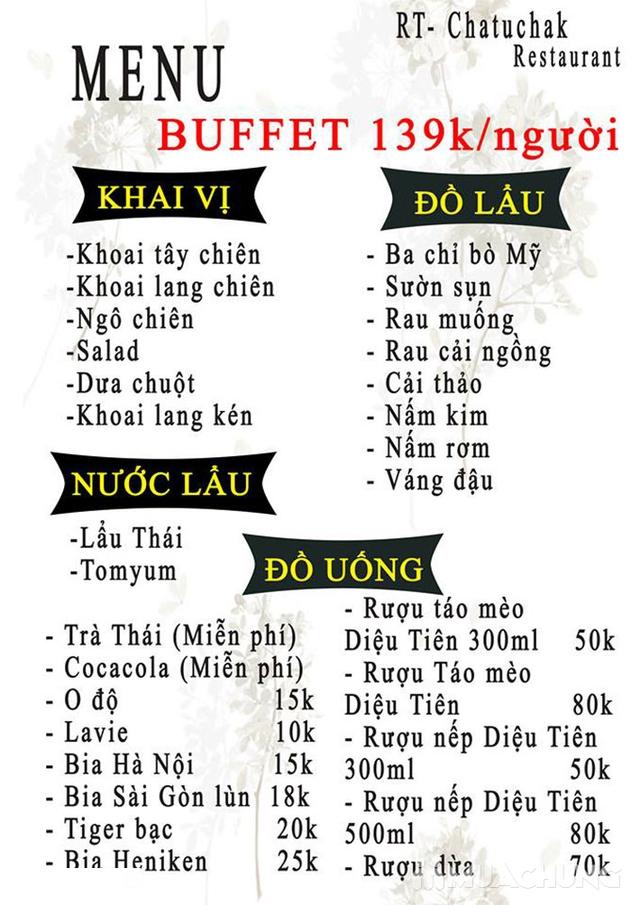 Butffet Lẩu Thái Lan thỏa thích tại Nhà hàng RT CHATUคHAK - 28
