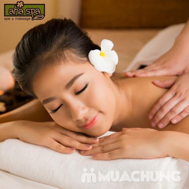 Combo 3 liệu trình:Massage body Thụy điển bấm huyệt + Thanh tẩy đậu đỏ + Làm sạch da mặt tại Aha Spa - 4