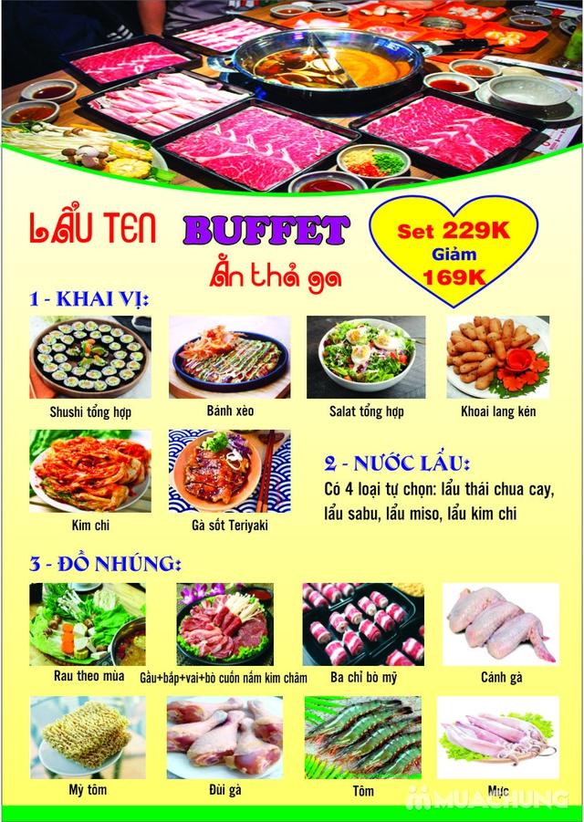 Butffet lẩu Nhật ăn thả ga đủ món ngon hấp dẫn tại Nhà hàng Ten Sushi - 25