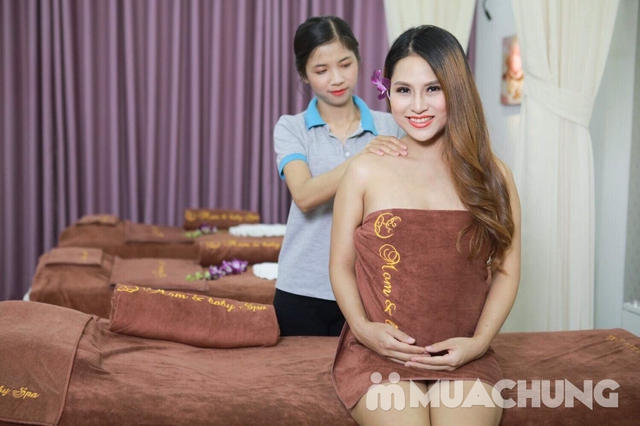 Massage thư giãn & đắp mặt nạ thảo dược cho mẹ bầu tại Mom & Baby Spa - 6
