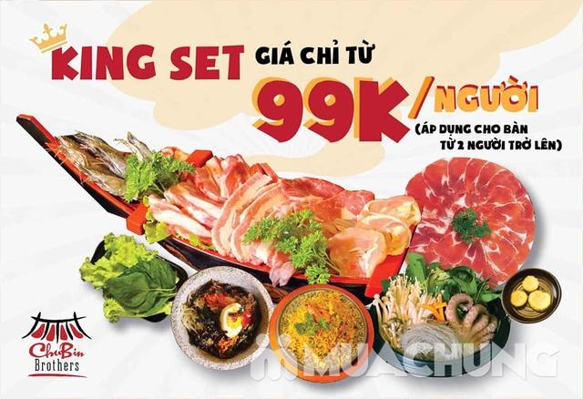 Thưởng thức thịt nướng chuẩn Hàn Quốc King Set 1 tại Nhà hàng CHUBIN BROTHERS  - 13