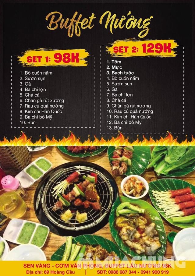 Buffet lẩu hoặc nướng Menu 129K siêu hấp dẫn + free coca tại NH Sen Vàng - 26