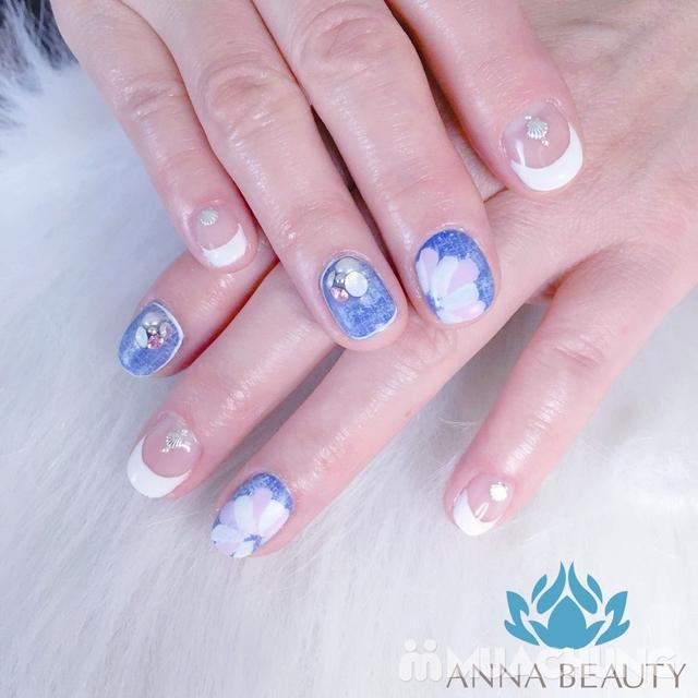 Sửa móng + sơn gel + Massage da mặt + đắp mặt nạ tinh chất tại Anna Beauty - 11