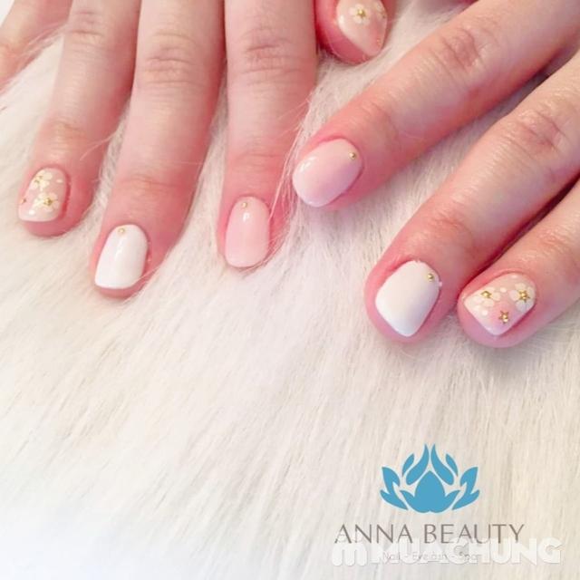 Sửa móng + sơn gel + Massage da mặt + đắp mặt nạ tinh chất tại Anna Beauty - 13