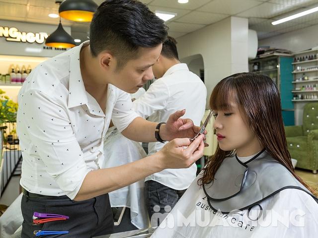 Combo Cắt + Gội + Sấy tạo kiểu dành riêng cho phái đẹp tại Long Nguyễn Hair Salon - 4
