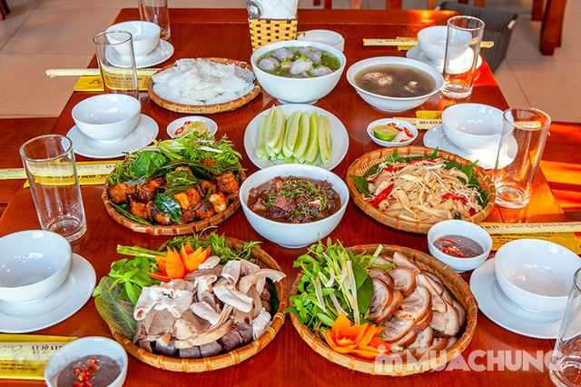 Mẹt Lợn Mán đầy đặn 8 món ngon hấp dẫn cho 04 người tại Nhà Hàng Hoa Ban Quán - 13
