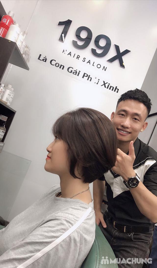 Trọn Gói Gội + Cắt + Uốn/Nhuộm/Ép - Tặng Hấp Phục hồi bảo vệ, Dưỡng óng mượt Tại 199X Hair Salon - 22