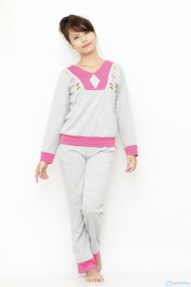 Bộ quần áo mặc nhà mùa thu đông cho bạn gái - 6