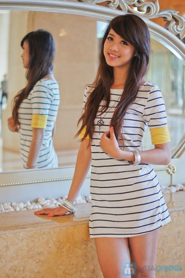 Trẻ trung trong phong cách năng động với váy thun suôn sọc ngang xinh xắn - Chỉ 85.000đ/01 chiếc - 6