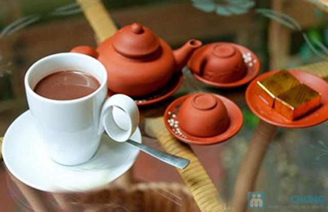 Combo ăn bánh-uống trà dành cho 2 người tại PQ trà quán - Chỉ 30.000đ - 15