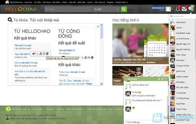 Thẻ học tiếng Anh trực tuyến HelloChao.vn cho 360 ngày,  tặng thêm 01 thẻ học 180 ngày - Chỉ 100.000đ - 9